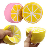 Pack of 3 Jumbo Slow Rising Squishies Lemon Strawberry Banana - Loomance Squishies