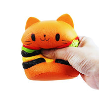 3 Pack Squishies Cat Hamburger Milk Box and Teeth - Loomance Squishies