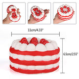 3 Pcs Squishies Strawberry Cake and Fruit Strawberry Squishy Toy - Loomance Squishies
