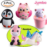 Random 4 Pcs Jumbo Animal squishy Sweet Scented Vent Charms - Loomance Squishies