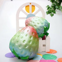 2pcs Jumbo Squishy Toys Rainbow Strawberry and Big Peach - Loomance Squishies