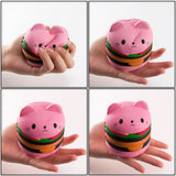 Kawaii Jumbo Hamburger & Popcorn Squishies Sweet Scented Kid Toy - Loomance Squishies