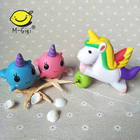 Unicorn & Whale Cartoon Squishies Kawaii Soft Squeeze Toys 3 Pack - Loomance Squishies