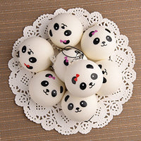 "8 Pieces 1.57"" Slow Rising Mini Panda Scented Squishy Toys - Loomance Squishies"