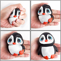 3 PCS Jumbo Squishy Toy, Penguin + Cat Toy + Milk Cup - Loomance Squishies