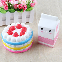 2 Pack Large Milk Cake Set - Loomance Squishies