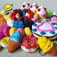 12pcs Jumbo Slow Rising Kawaii Squishies Foodie and Dessert (Cake, Donuts) - Loomance Squishies