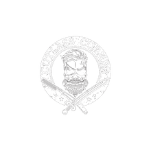 cutlass corner - shaving - skull - logo white