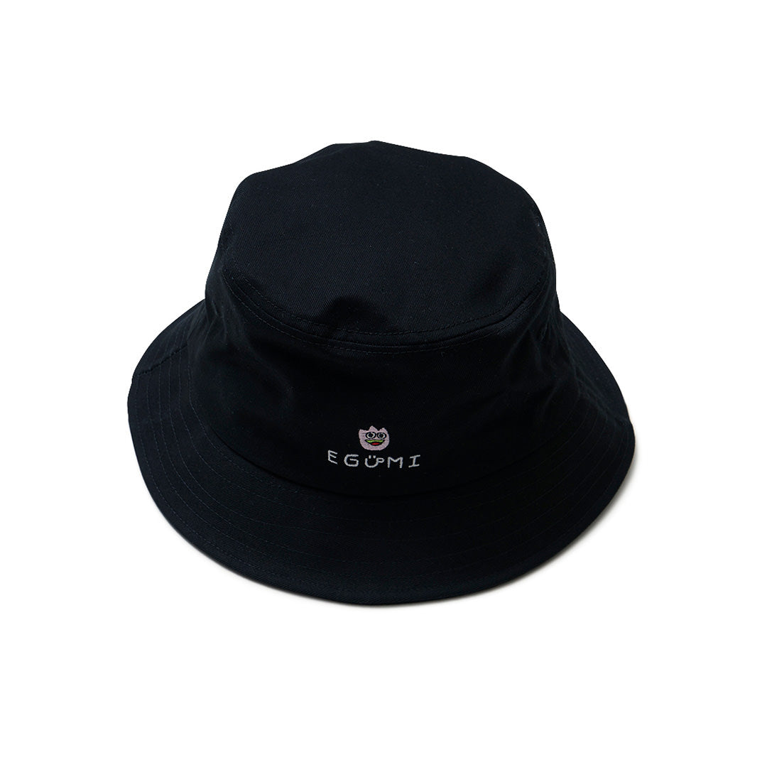 [MADE-TO-ORDER] EGUMI TULIPS BUCKET HAT【BLACK】