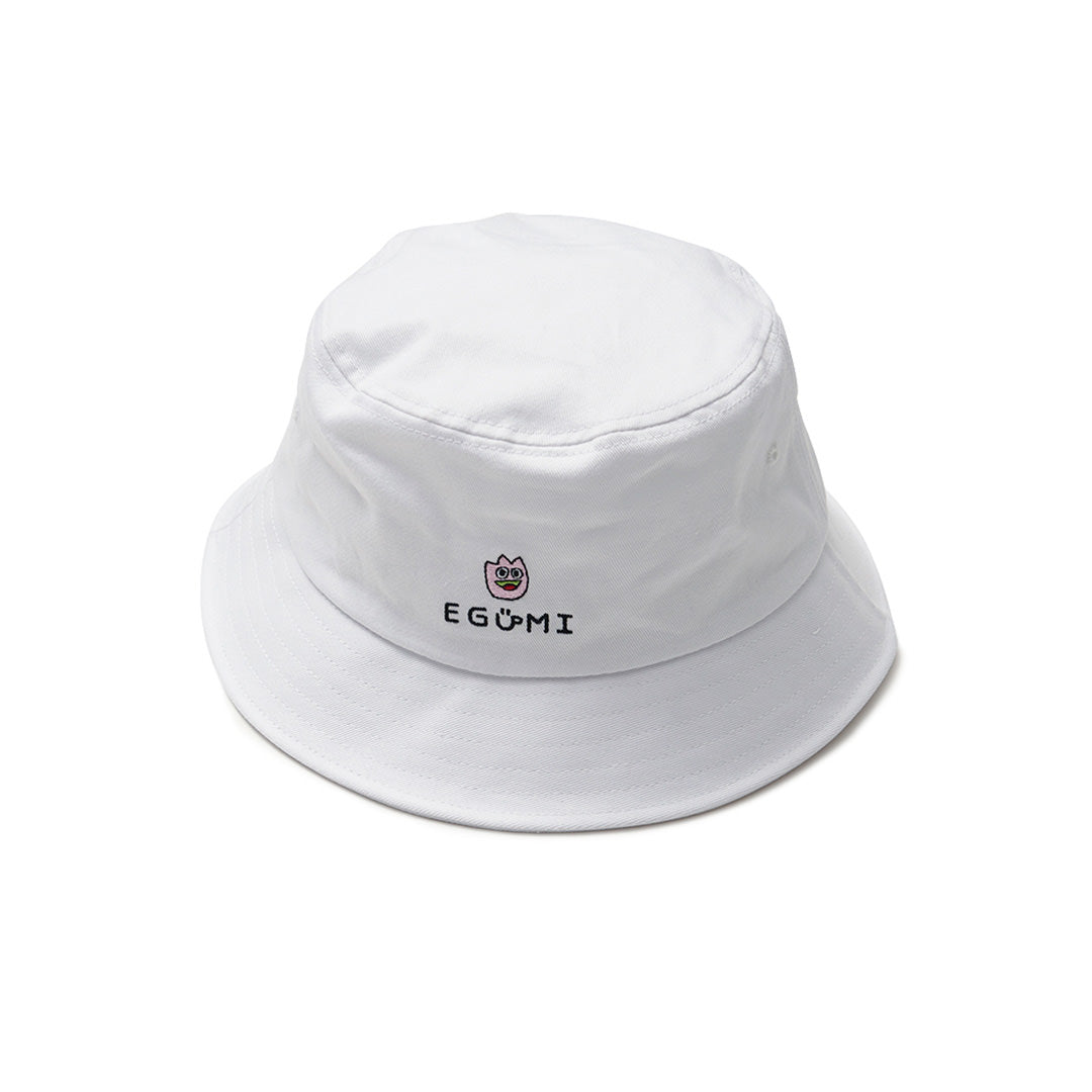 [MADE-TO-ORDER] EGUMI TULIPS BUCKET HAT【WHITE】