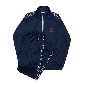 [MADE-TO-ORDER] EGUMI HEART TRACK SUIT【NAVY】