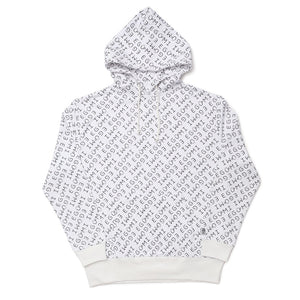 [MADE-TO-ORDER] EGUMI MONOGRAM HOODIE (with raised liner)【WHITE】