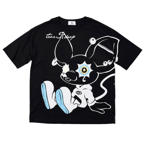 "[MADE-TO-ORDER]  tear R drop × LAM ""TEAR RAT"" BIG TEE【BLACK】"