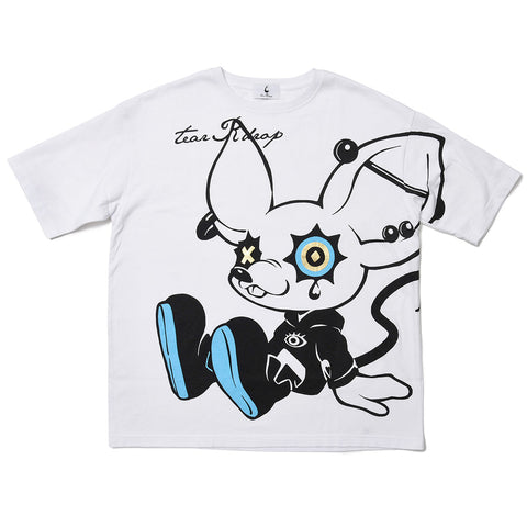 "[MADE-TO-ORDER]  tear R drop × LAM ""TEAR RAT"" BIG TEE【WHITE】"