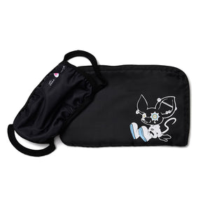 "[MADE-TO-ORDER]  tear R drop × LAM ""TEAR RAT"" MASK & POUCH SET【BLACK】"