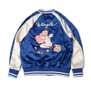 [MADE-TO-ORDER] WINGLE SOUVENIR JACKET【BLUE】