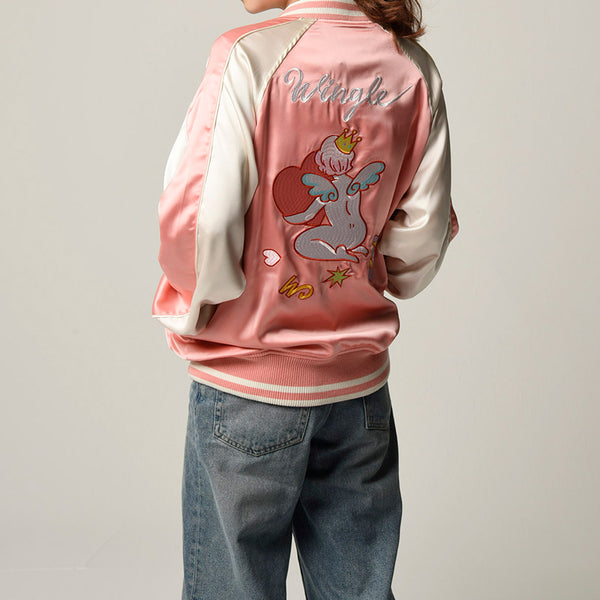 [MADE-TO-ORDER] WINGLE SOUVENIR JACKET【PINK】