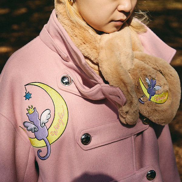 [MADE-TO-ORDER] WINGLE MOON CAT SNOOD【BEIGE】