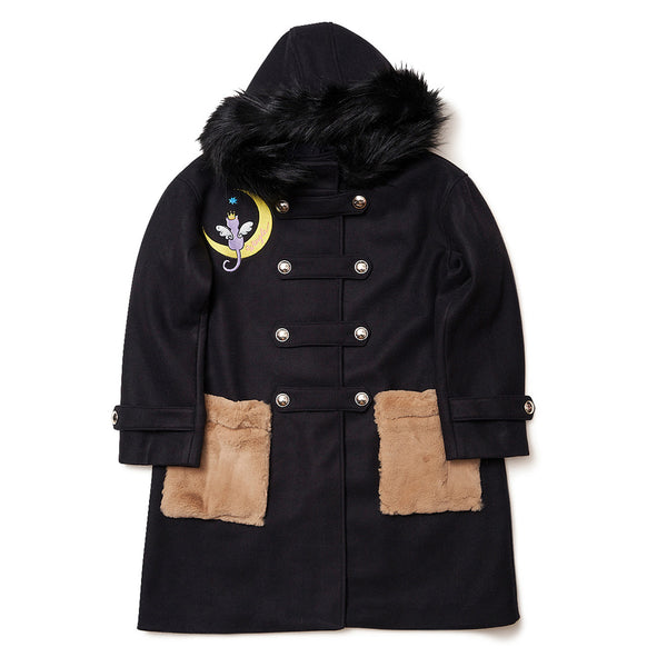 [MADE-TO-ORDER] WINGLE MOON CAT COAT【BLACK】