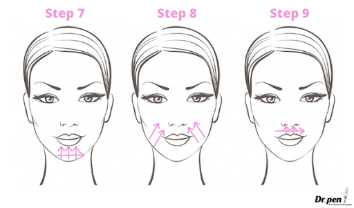 Dr Pen Face Mapping Microneedling Guide 3