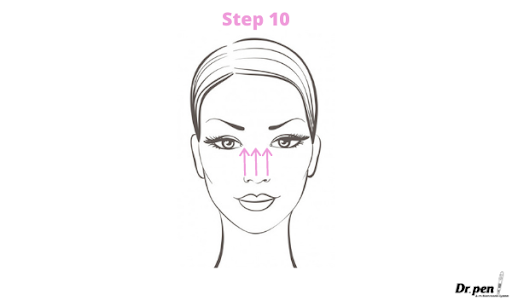Dr Pen Face Mapping Microneedling Guide 4