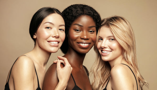 Three women with freshly cleansed skin after microneedling facial treatments - Dr Pen Australia Microneedling Guide
