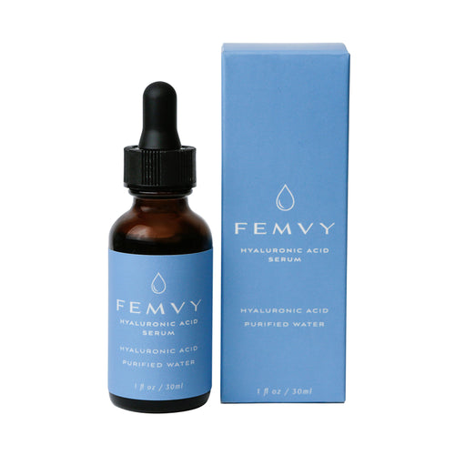 Femvy Hyaluronic Acid Serum - bottle and box