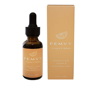 Natural Vitamin C Serum Hyaluronic Acid Serum with box