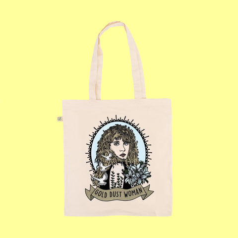 Gold Dust Woman - Earth Positive Ethical tote.