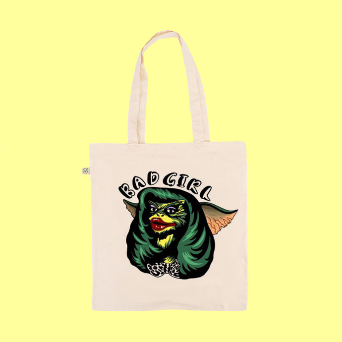 Greta Gremlins Bad Girl - Earth Positive Ethical tote.