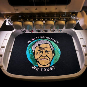 In David Attenborough We Trust - Unisex Embroidered Print