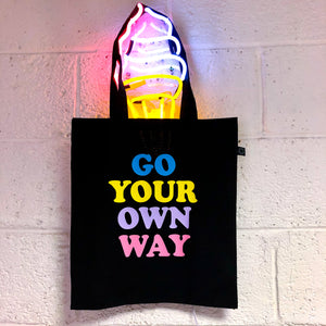 Go Your Own Way - Earth Positive Ethical tote.