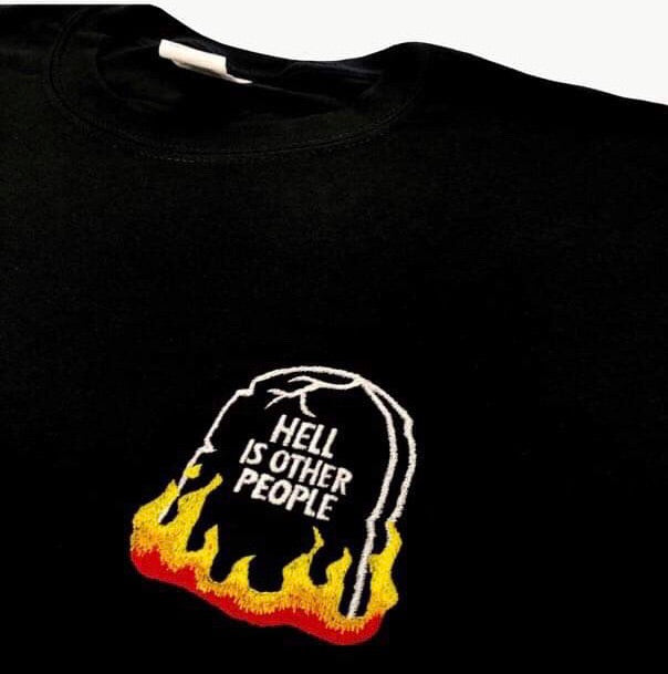 Hell Is Other People Tshirts- Unisex Embroidered Print