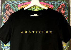 GRATITUDE /EMBROIDERED PRINT - SIZE SMALL