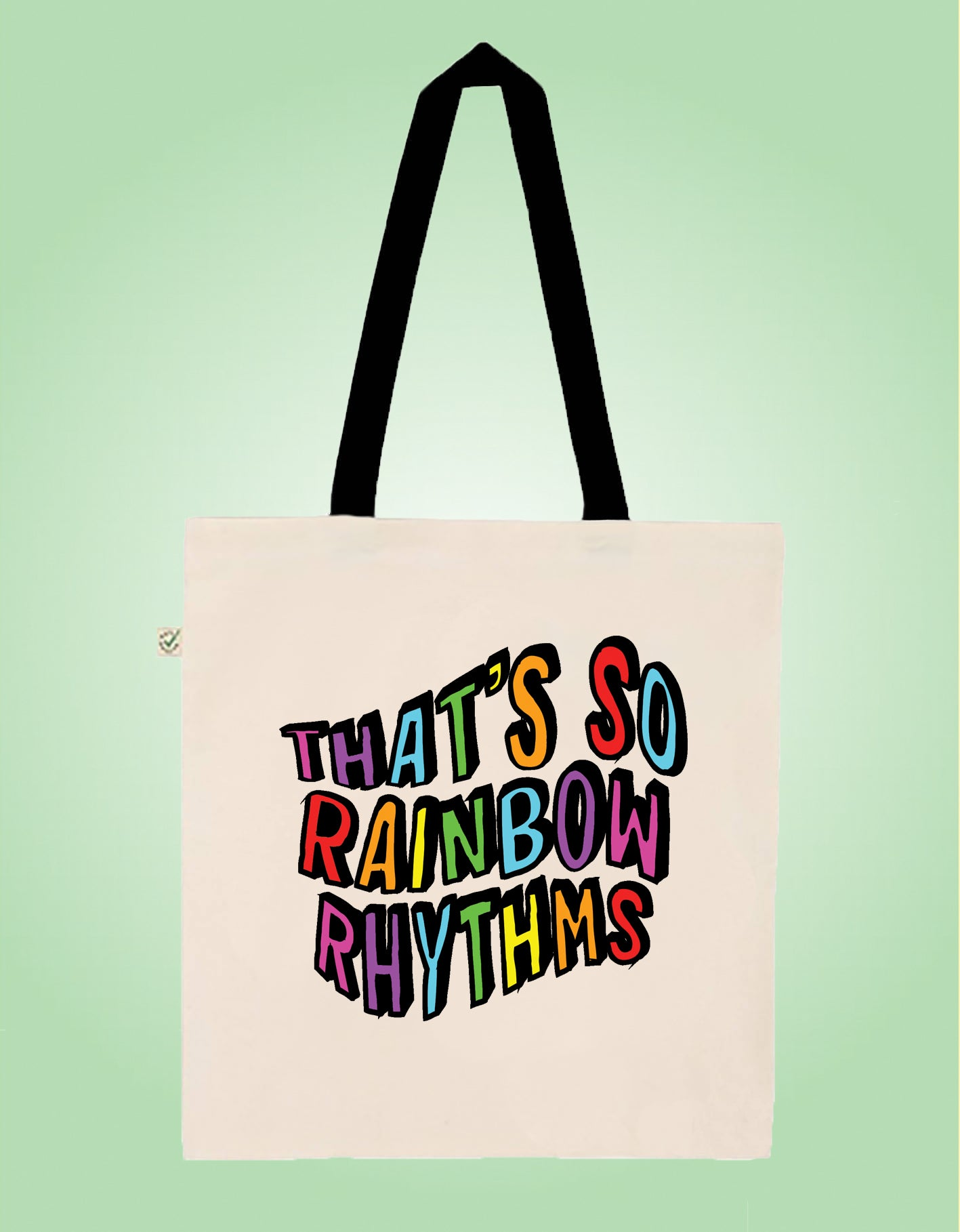 Rainbow Rhythms - Peep Show - Earth Positive Ethical tote.