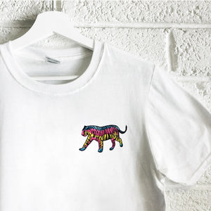 Pastel Tiger - Unisex Embroidered Print