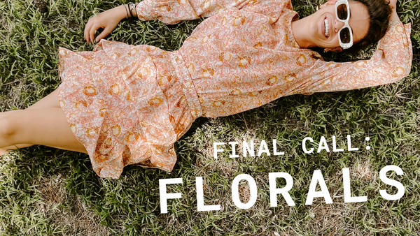 Final Call for Florals!