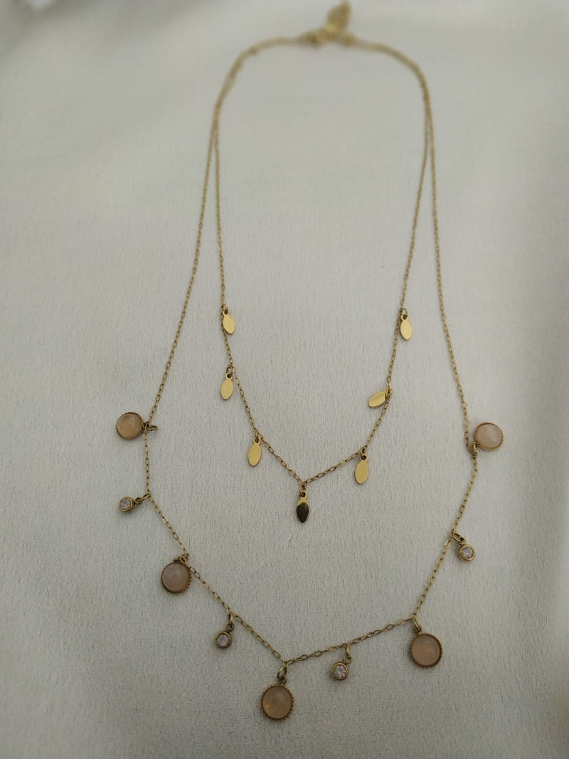 THE TWO LAYERS NECKLACE -Silk & Salt