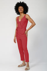 Bounce Back Jumpsuit  - Magenta