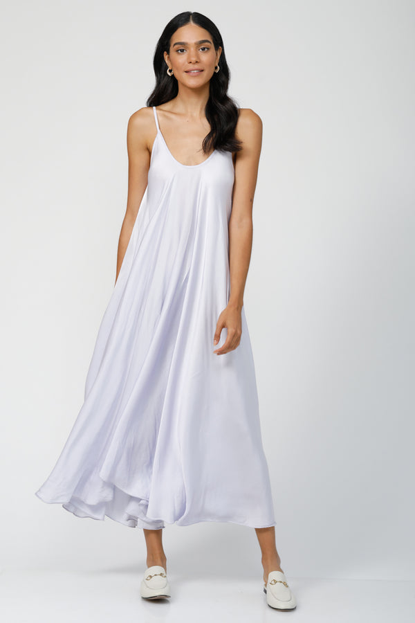 Go With the Flow Oversized maxi dress - Lovely Lavender