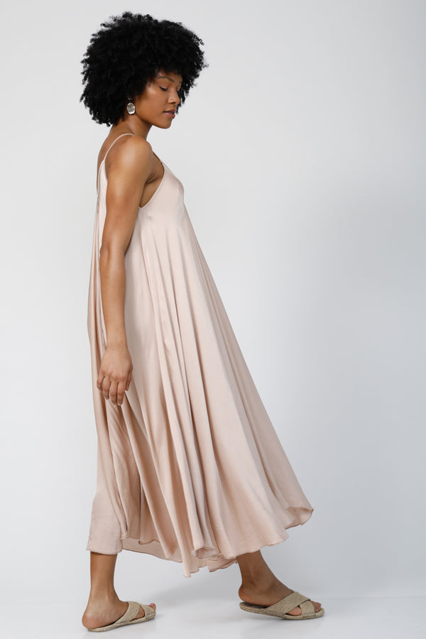 Go With the Flow Oversized maxi dress - Champagne