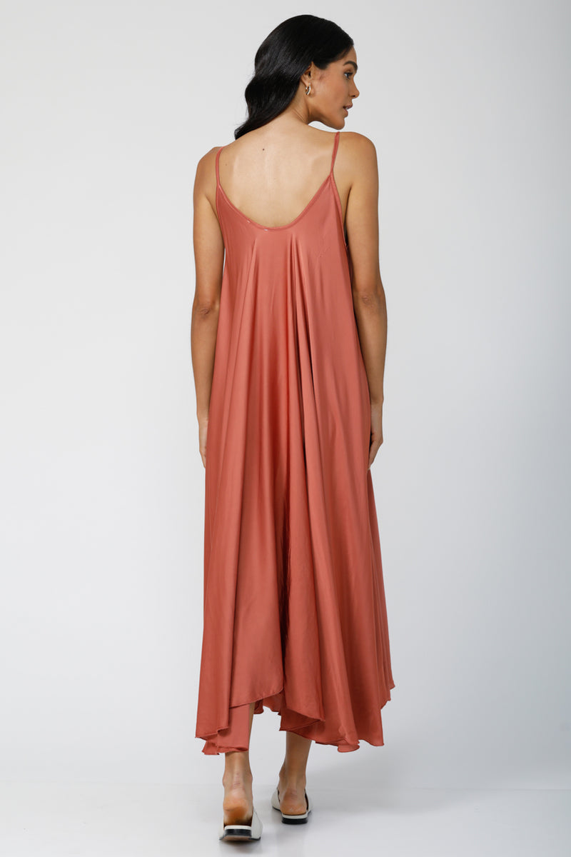Go With the Flow Oversized maxi dress - Rusted Orange