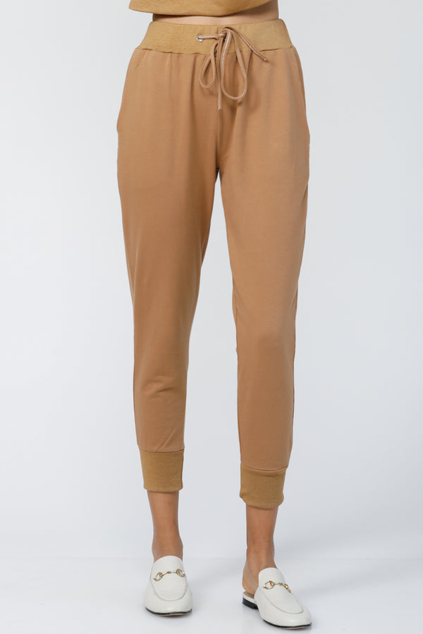 Cloud 9 Cuffed Joggers - Camel