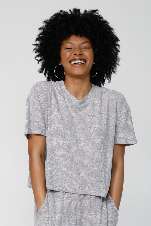 My Happiness Tee - Heather Grey