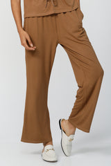 Live & Breathe Flared Joggers - Camel