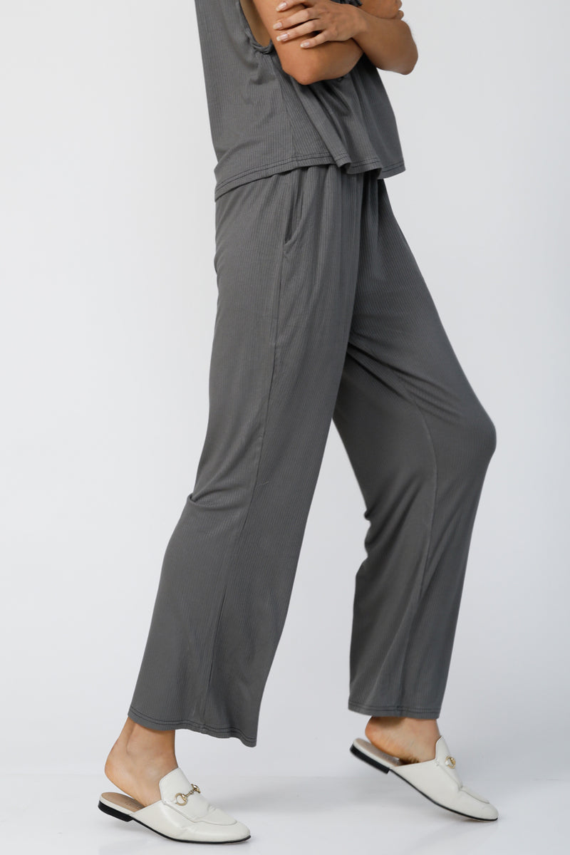 Live & Breathe Flared Joggers - Dark Grey