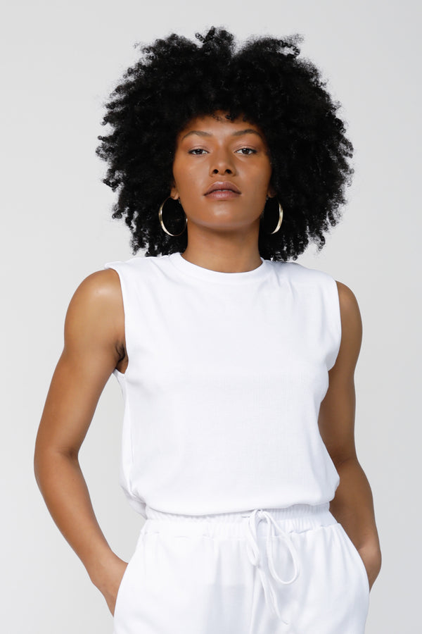 Tomboy Ultra-soft Muscle Tank - Bright White