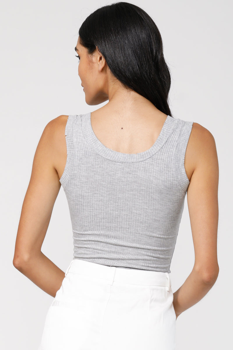 Elevated Tank Top - Heather Grey