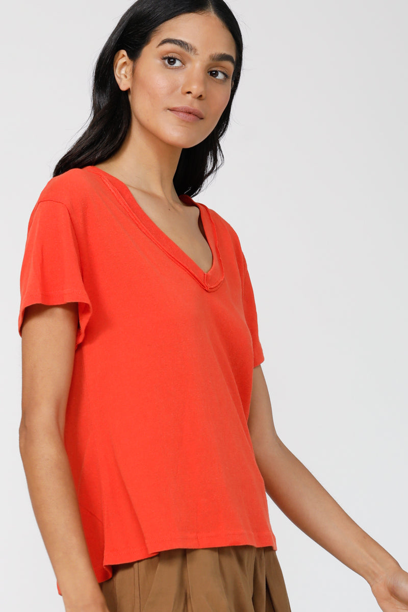 Good To Go V-Neck Tee - Orange