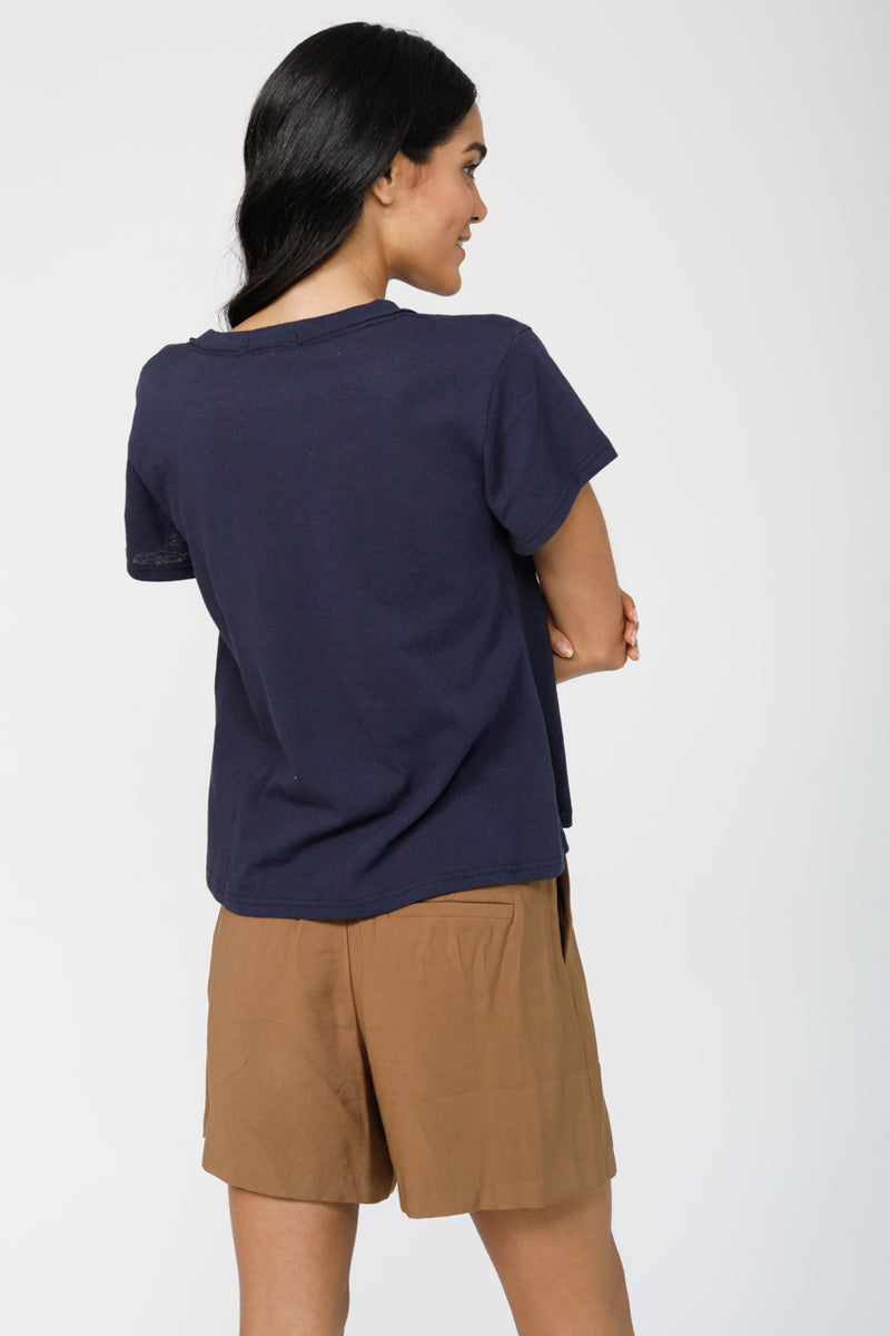 Good To Go V-Neck Tee - Navy